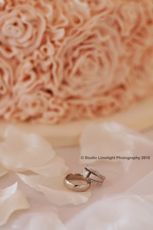 studio limelight wearing engagement ring during the ceremony