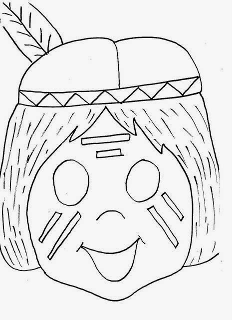 Maestra de Primaria: Máscaras, caretas y disfraces de indio para ...