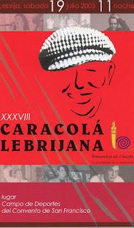 CARTEL HOMENAJE AL CHOZAS DE LA CARACOLÁ 2003