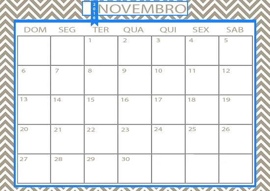 FOLHINHA NOVEMBRO, calendário, calendário novembro