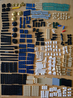 lego architecture sydney - knolling it all out