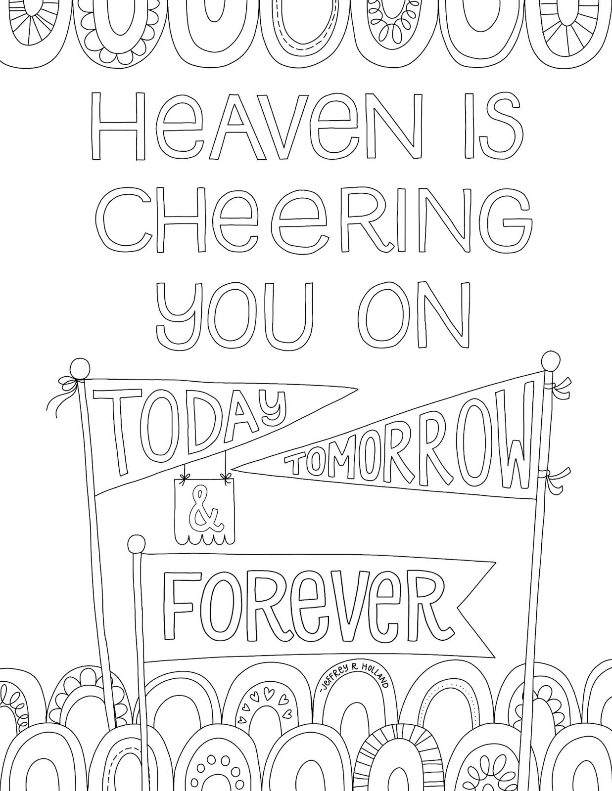 Just What I In Heaven Is Cheering You On Free Lds