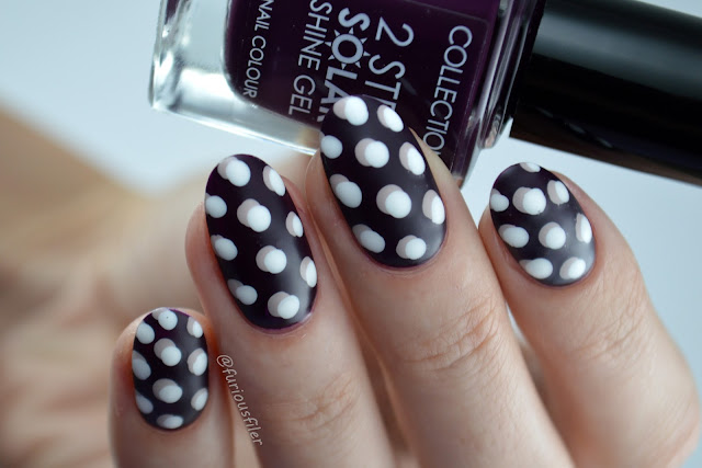 #31dc2016 3d polka dots matte furious filer nails