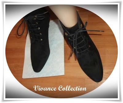 Ghete *Vivance Classique Collection*, piele naturala intoarsa, foarte feminine!