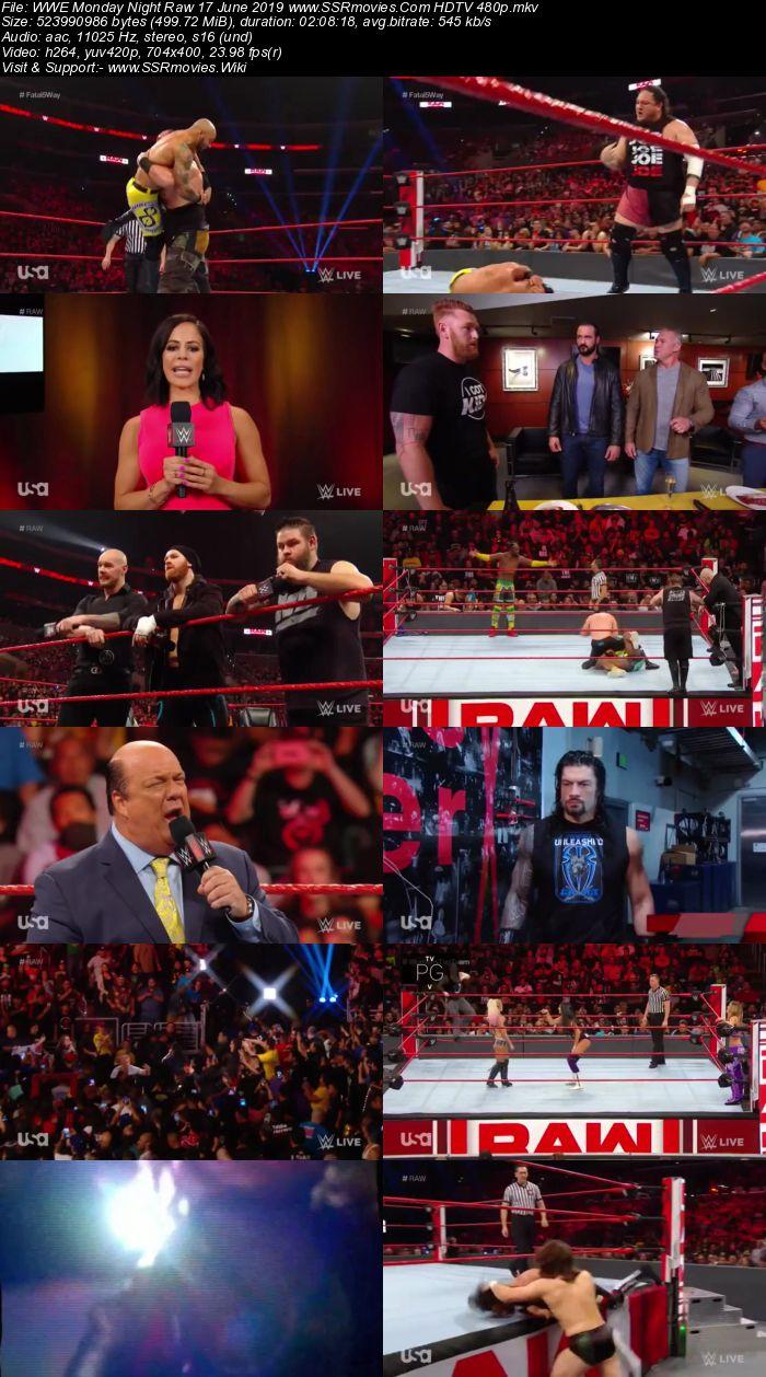 WWE Monday Night Raw 17 June 2019 Full Show Download