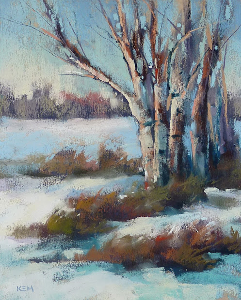 Painting World Pastel Demo .winter Landscape With