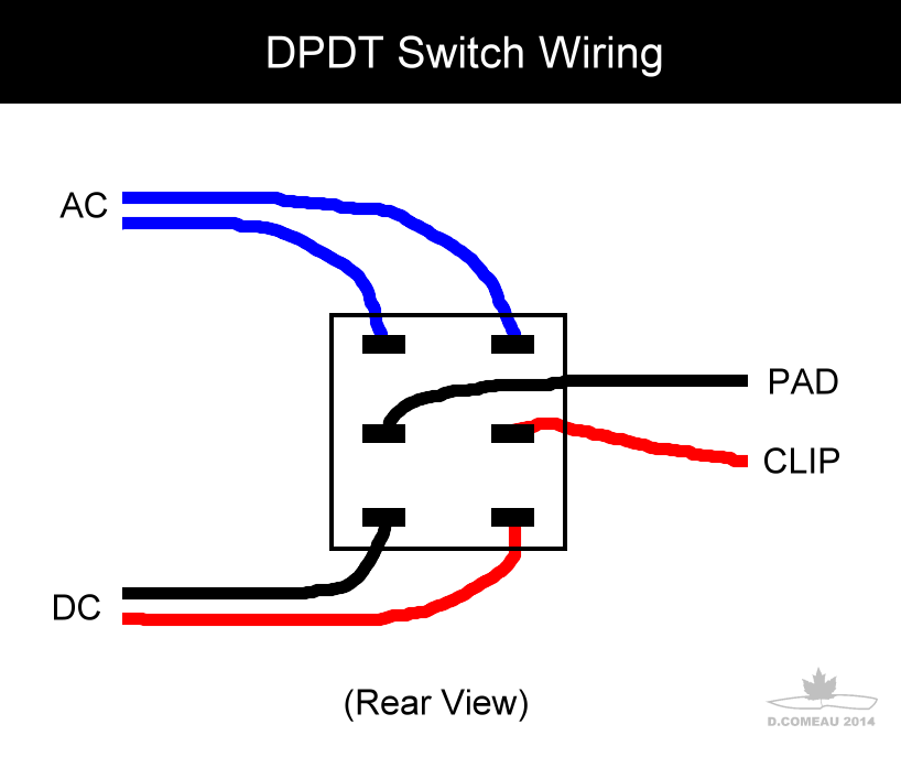 wiring a double pole double throw switch