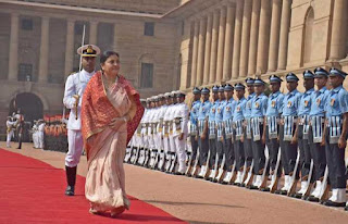 nepal-president-given-ceremonial-reception-at-rashtrapati-bhawan
