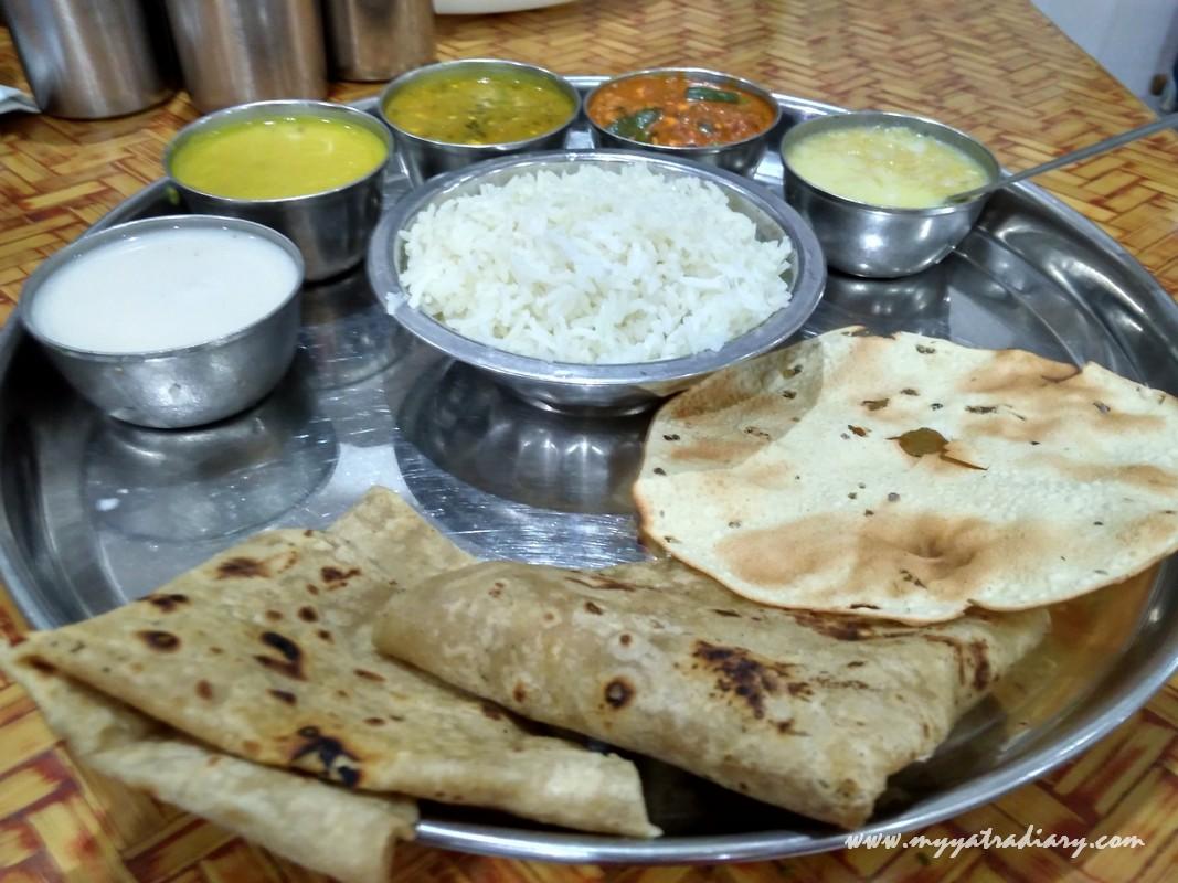 MTDC Shirdi The Pilgrim's Inn Neem Maharashtrian Thali