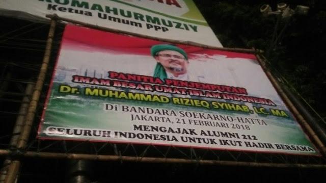 FPI Nyatakan Sampai Hari Ini Belum Ada Pembatalan, '7 Juta Umat' Pagi Ini Bergerak Jemput Imam Besar di Bandara Soekarno Hatta