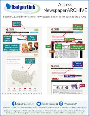 BadgerLink Info Sheet example