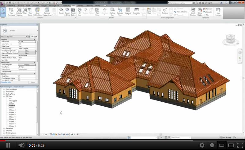 Roof Framing Extensions for Autodesk Revit | BC residential home