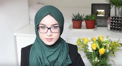 Gambar Tutorial Hijab Untuk Wanita Berkacamata