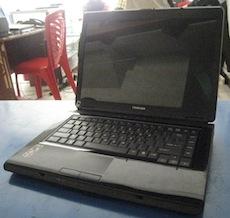 jual laptop bekas toshiba satellite l300d