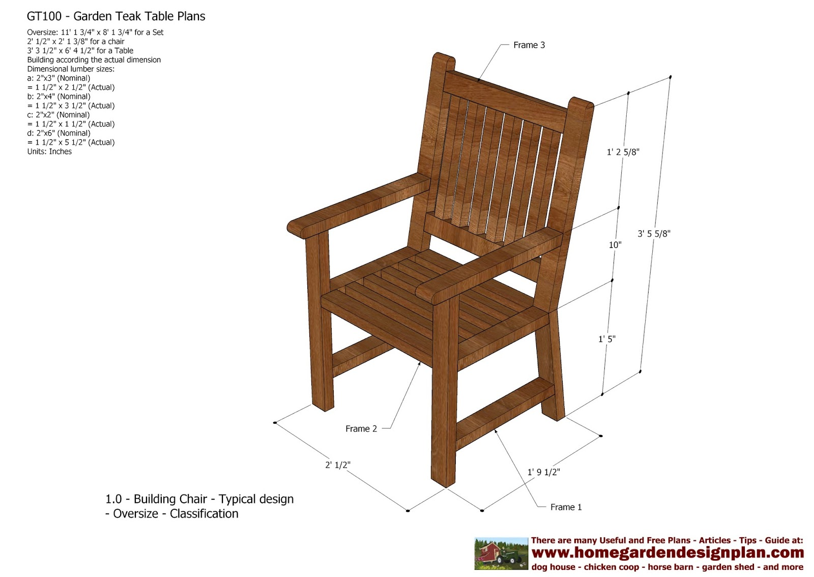 Wood Patio Chair Plans Infant Baby Beach Home Garden Gt100 Teak Tables