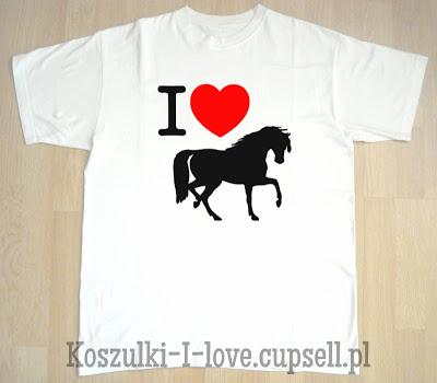 koszulka i love horses