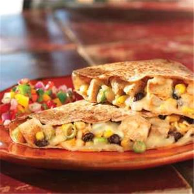 Chicken, Corn & Black Bean Quesadillas