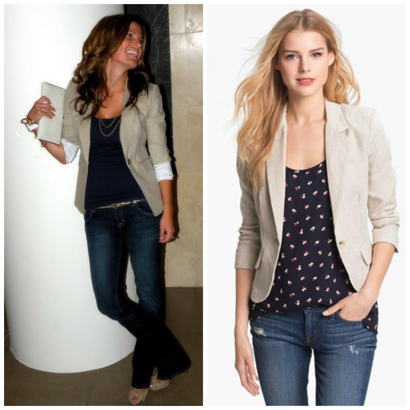 308d842dda Como combinar blazer beige de mujer – Los modelos de moda de la ropa ...