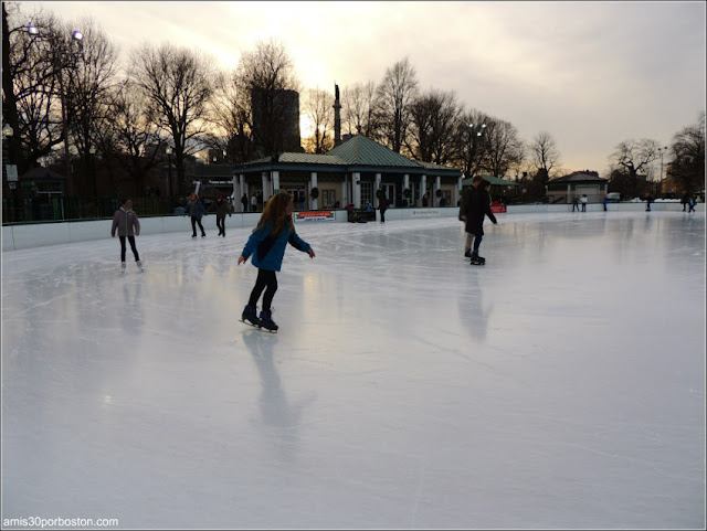 Pista de Patinaje del Frog Pond en el Boston Common