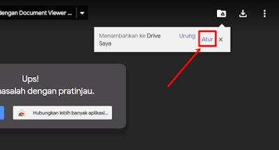 klik atur di google drive