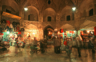 People in Kerman historical Kerman Bazaar.