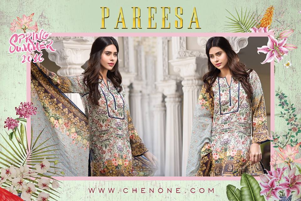 f126e0aa7 Latest Pareesa Dresses By Chen One 2016 l Chen One Spring - Summer Catalog  Magazine 2016-17