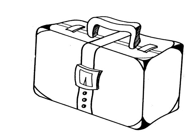 maletas para colorear e imprimir