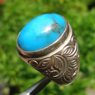 Batu akik pirus biru langit
