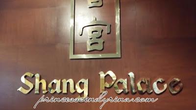 Shang Palace signboard