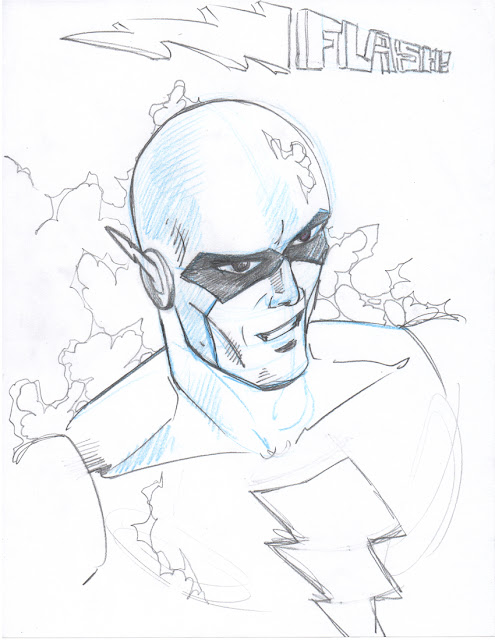 The Flash 12 minute drawing