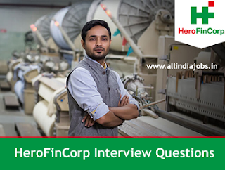 Hero FinCorp Interview Questions