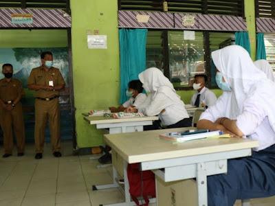 Simulasi PTM Serentak tingkat SMP dan SMA di gelar di Tangerang hingga 18 September