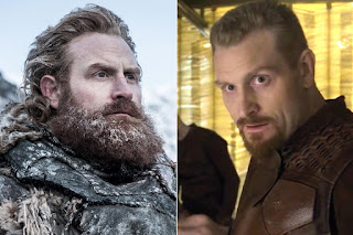 Game of Thrones actors with and without their beards,Tormund Giantsbane / Kristofer Hivju