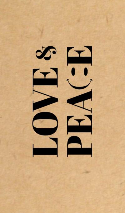 LOVE & PEACE SMILE Craft x Black
