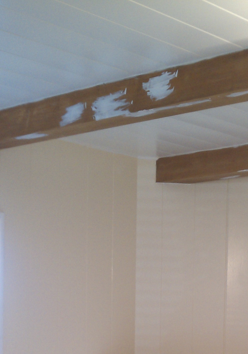 Hiding from the Laundry: Painting the Knotty Pine