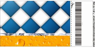 Tarjeta con forma de Ticket de Fiesta de la Cerveza.