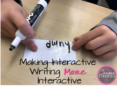 Looking at how to keep all students engaged during interactive writing