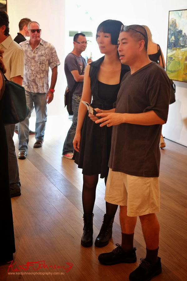 Fashion looks, art crowd, Olsen Irwin Robert Malherbe exhibition. Photo by Kent Johnson.