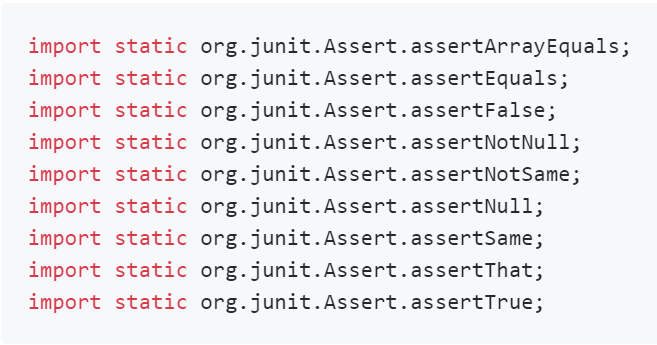 Guide to JUnit 4 Assertions