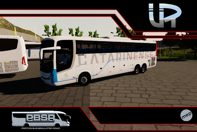 Skin Proton Bus Simulator Road - Comil Campione MB 0500 RSD Viação Catarinense
