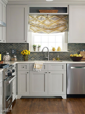 Silvery Gray Small Kitchen Ideas
