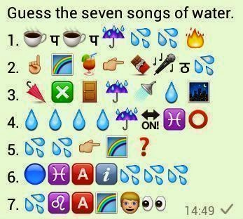 Guess the Seven Songs of Water