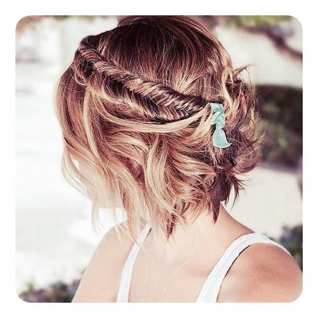 Chunky Fishtail braid Short Hairstyle