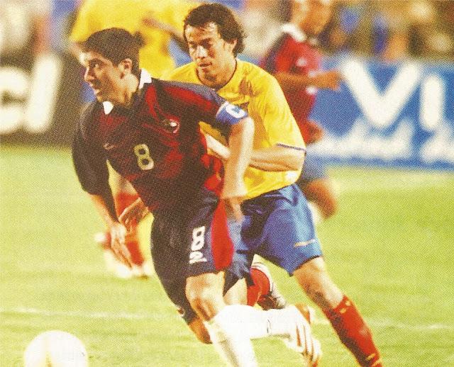 Chile y Ecuador en partido amistoso, 9 de febrero de 2005