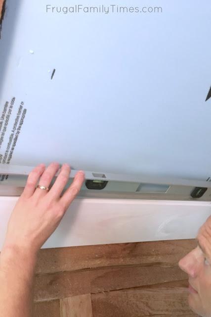 shiplap ceiling DIY first board