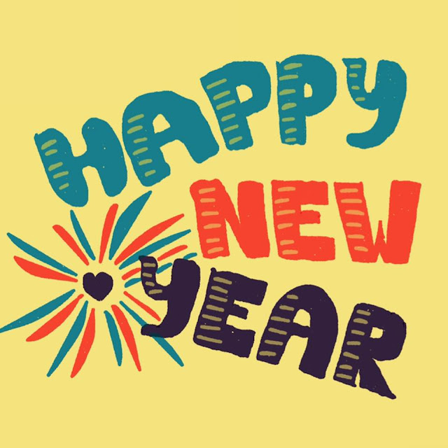 Happy New Year - hand lettering made with Paper app