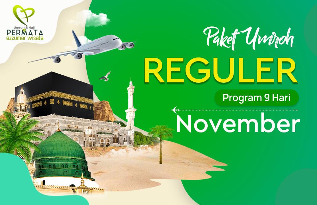 Promo Paket Umroh  Reguler Biaya Murah Jadwal Bulan November 2020