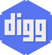 digg hexagon icon
