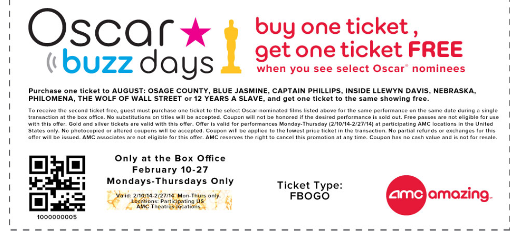 photograph about Amc Printable Tickets named Amc Theatres Printable Coupon codes May perhaps 2018