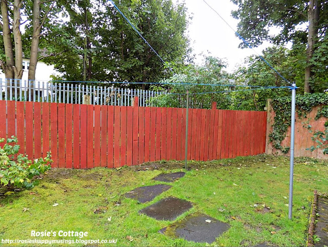 Fence along the back of the garden completely re-built and painted
